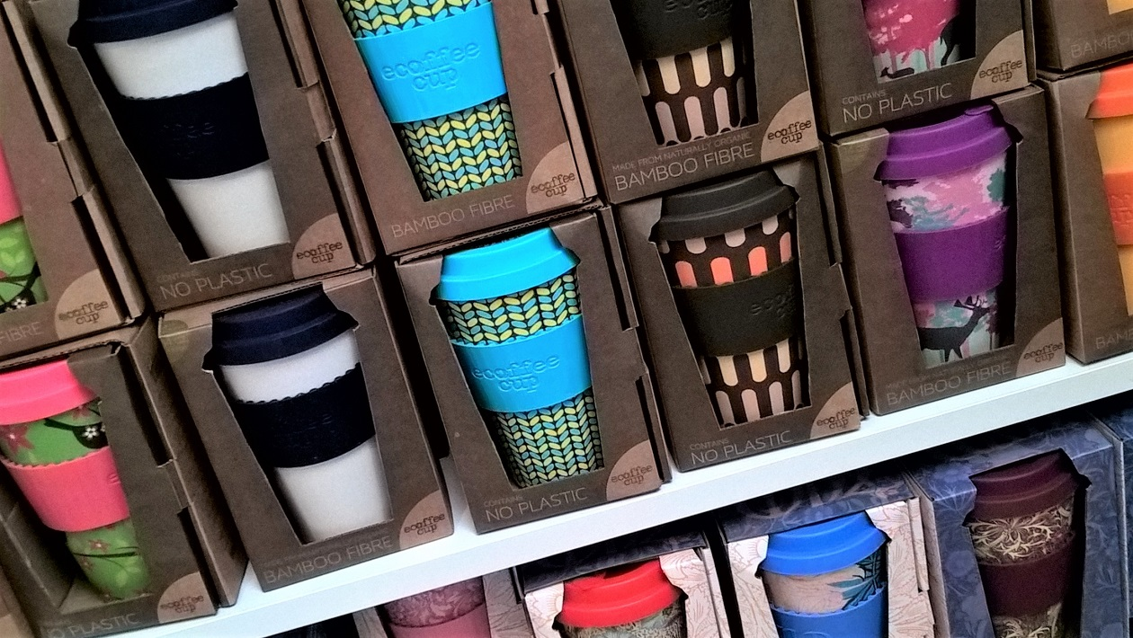 Some of the range of ecoffee cups