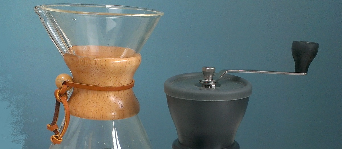 Chemex and grinder