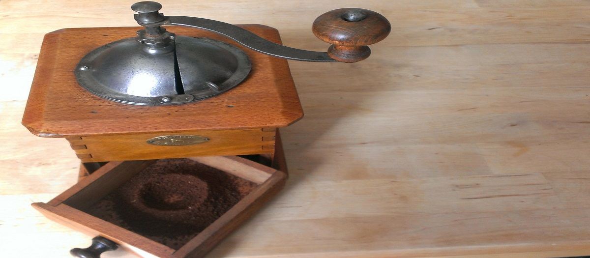 old style coffee grinder
