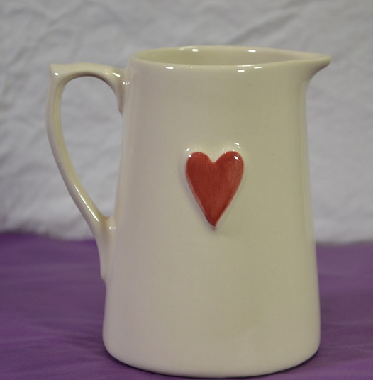 Red Heart Jug